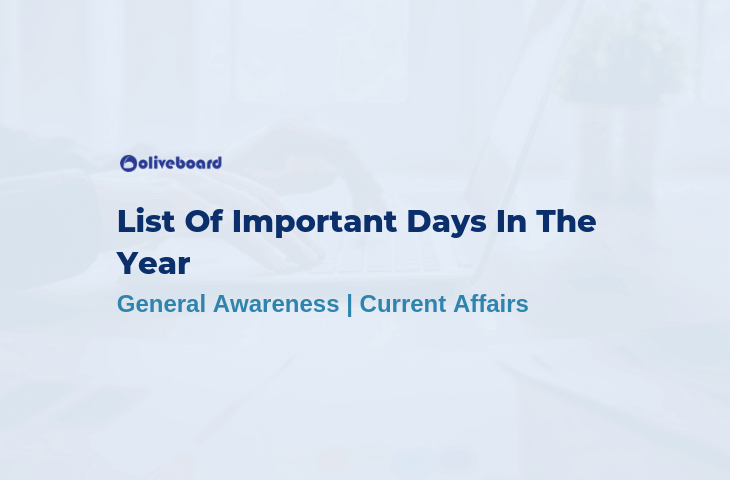List Of Important Days In The Year