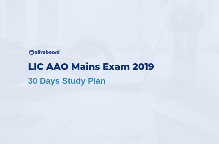 LIC AAO Study Plan 2019