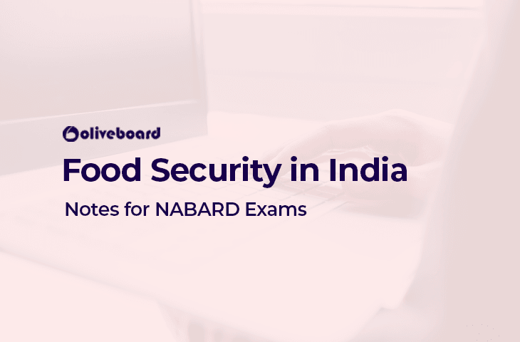 Food Security in India - NABARD Exam Notes
