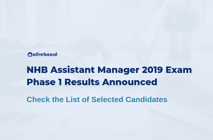 NHB Assistant Manager 2019 Exam Phase 1 Results