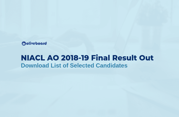 NIACL AO Final Result 2018-19