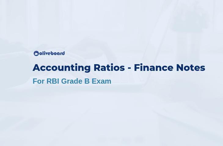 Accounting Ratios - RBI Grade B Notes
