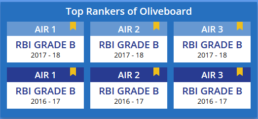 RBI Grade B Toppers
