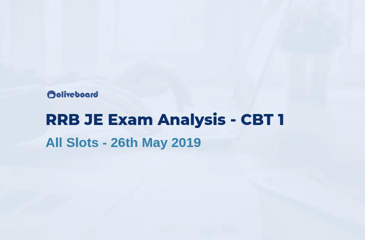 RRB JE 2019 CBT 1 Exam Analysis