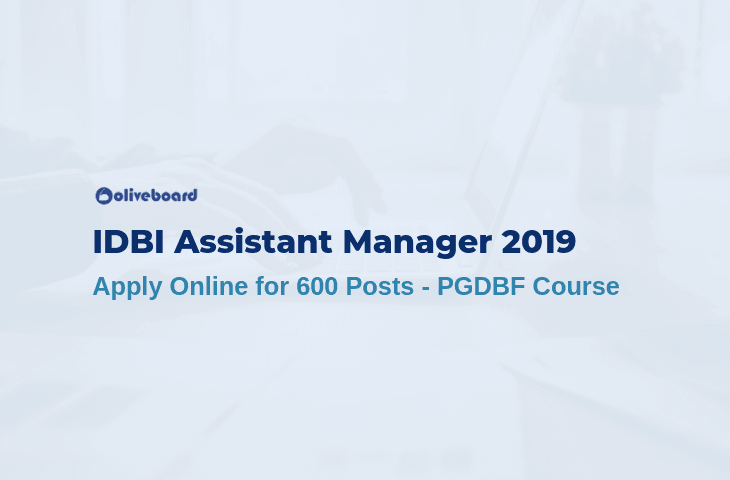 IDBI Assistant Manager 2019 Apply Online