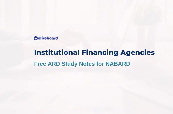 Institutional Financing Agencies