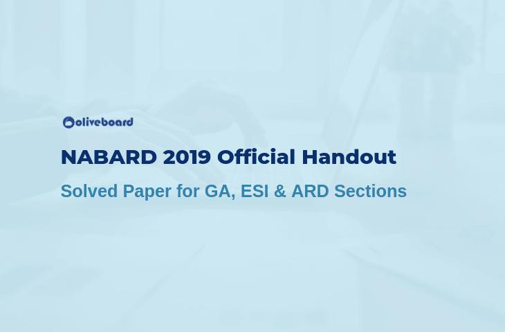 NABARD 2019 Official handout