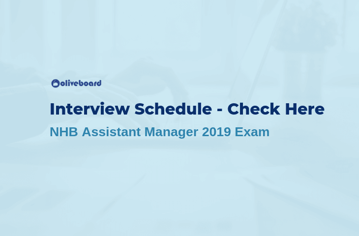 NHB Assistant Manager Interview Schedule 2019