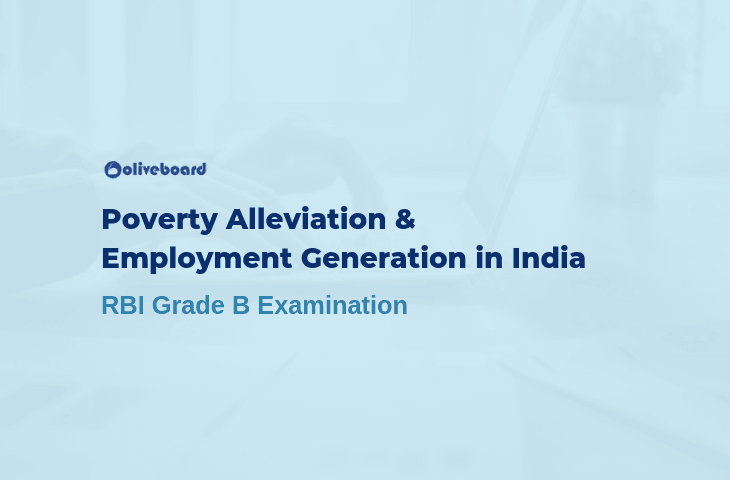 Poverty Alleviation & Employment Generation - RBI Grade B Study Notes