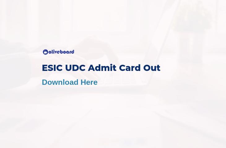 esic udc admit card 2019
