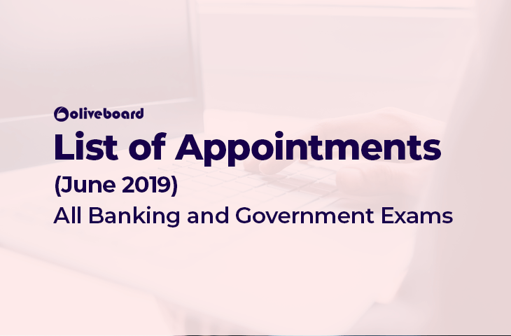 Appointments June 2019