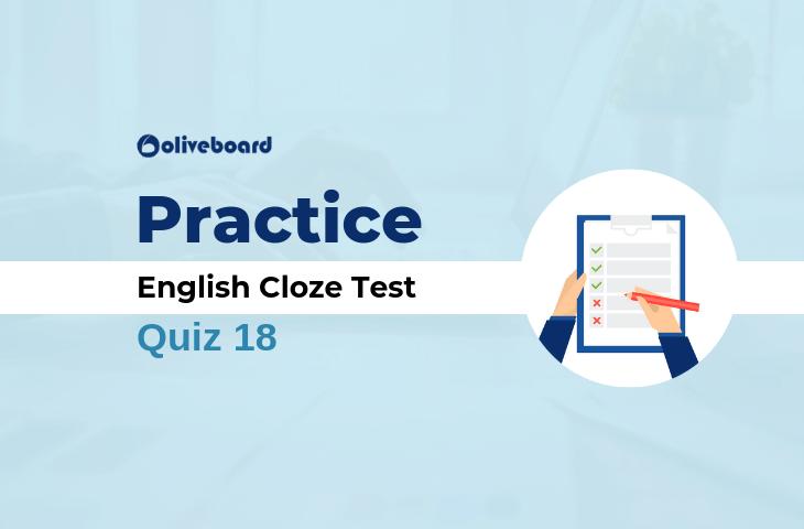 English Cloze Test Practice Set 18