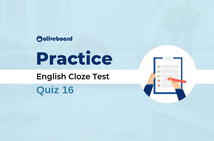 EPFO Assistant English Cloze Test 16