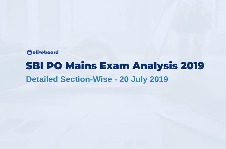 SBI PO Mains Exam Analysis 2019