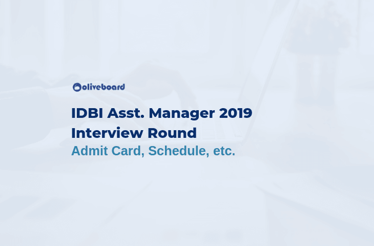 IDBI Assistant Manager Interview 2019