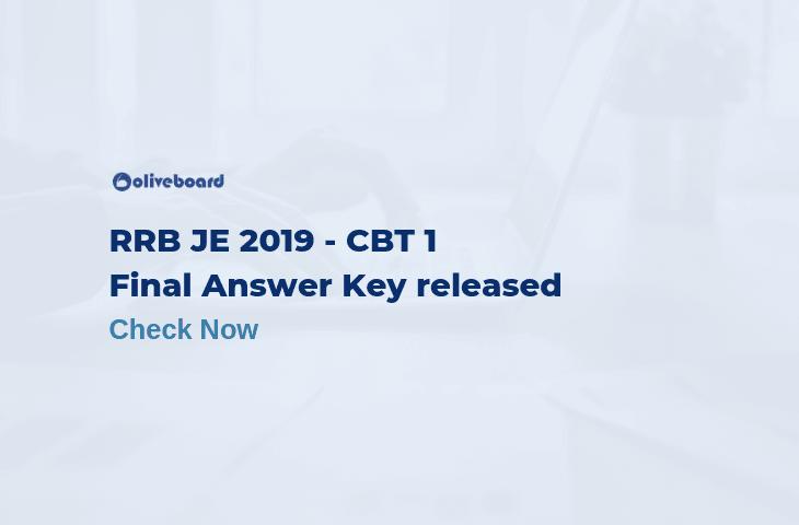 Final RRB JE Answer Key