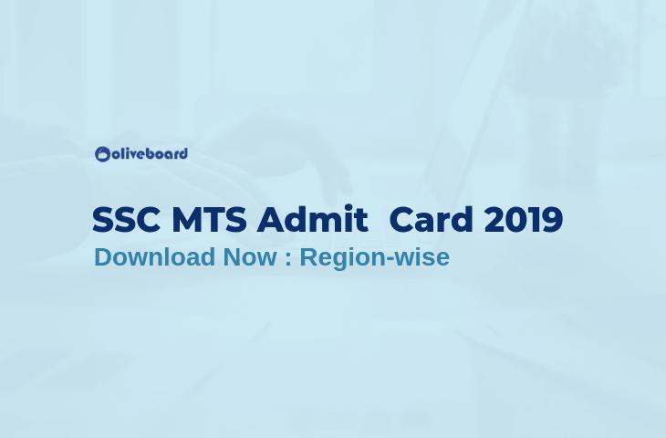 SSC MTS Admit Card 2019