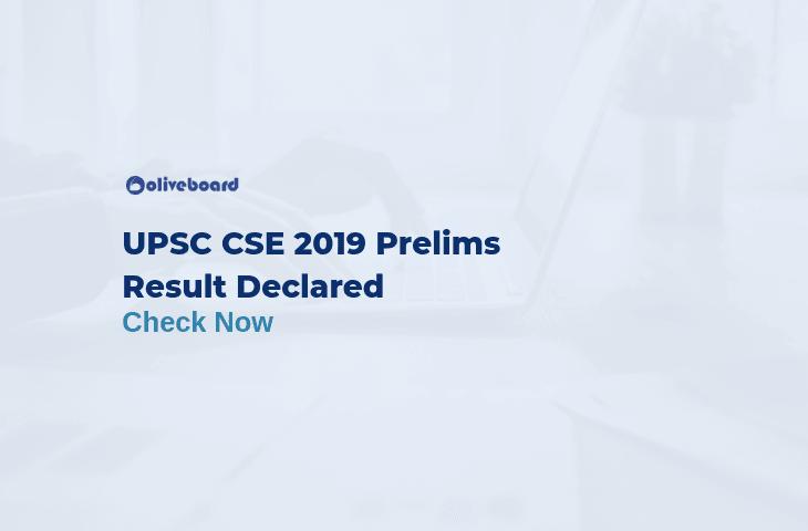 UPSC CSE Prelims Result 2019