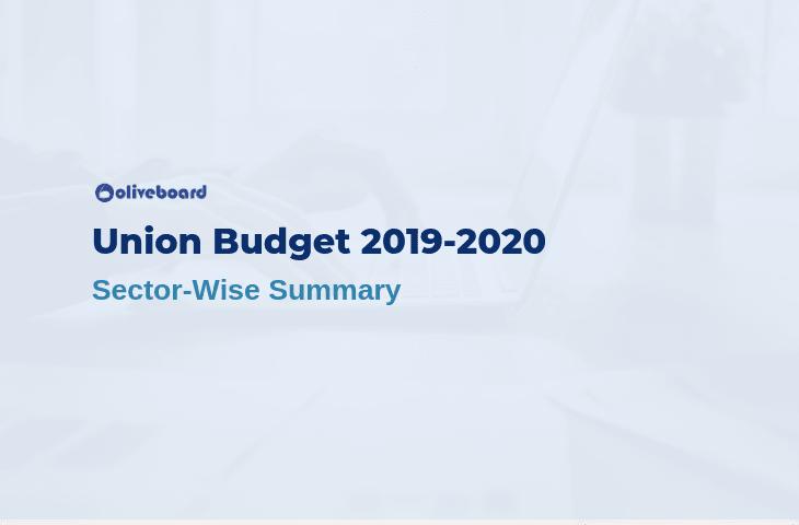 Union Budget 2019 Summary