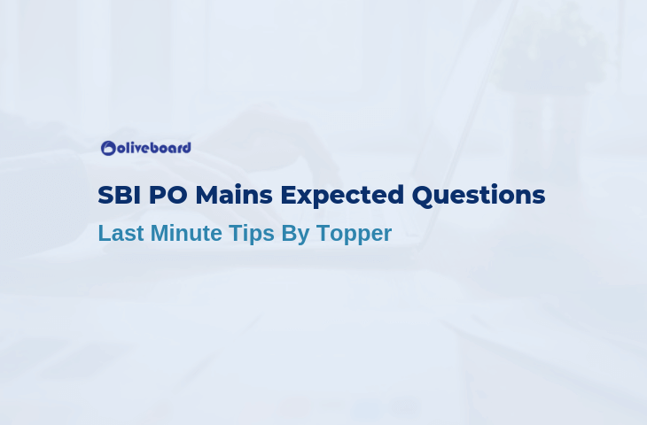 SBI PO Mains Expected Questions