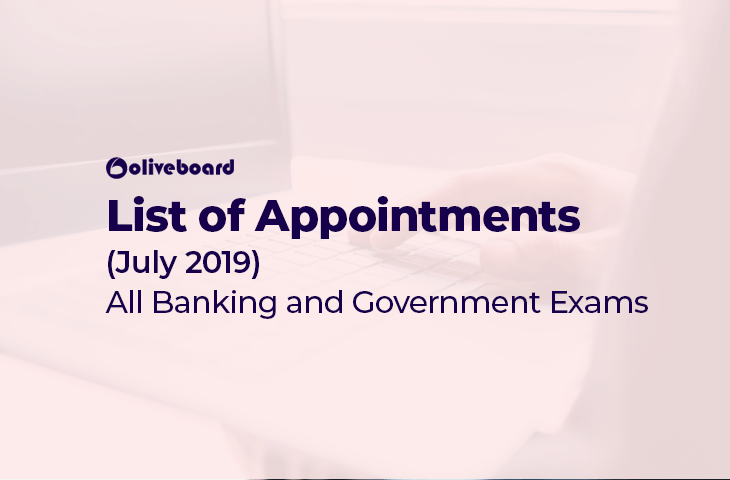 Appointments July 2019