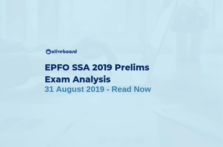 EPFO SSA Prelims Exam Analysis