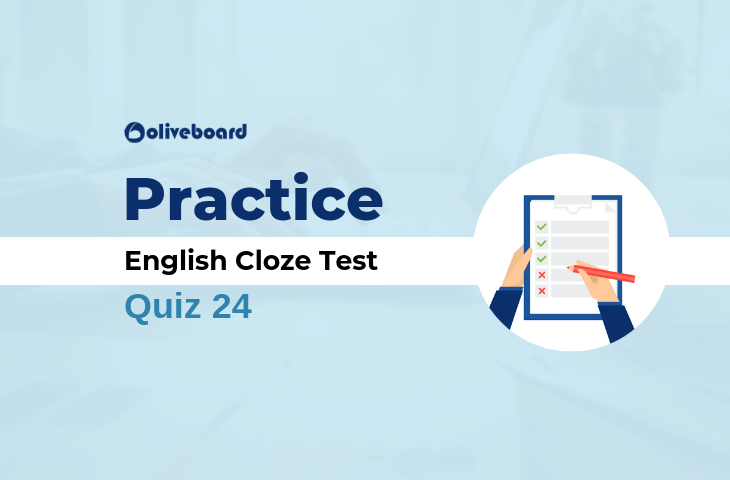 English Cloze Test Quiz 24