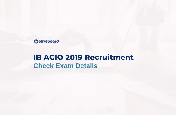 IB ACIO Recruitment 2019 notification