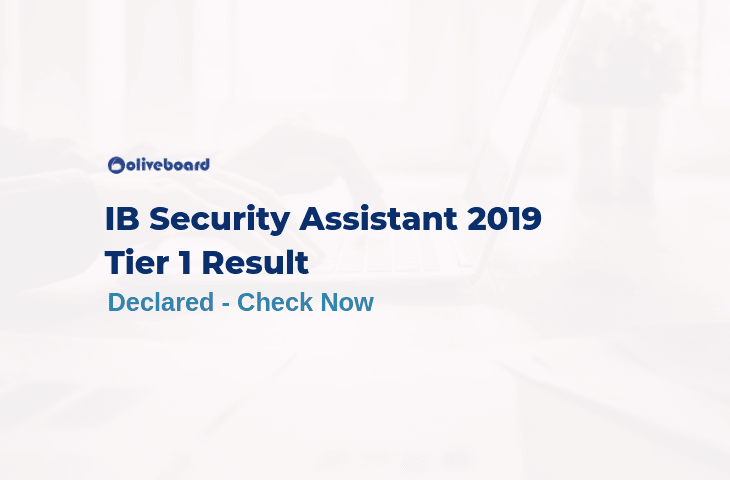 IB Security Assistant Tier 1 Result 2019