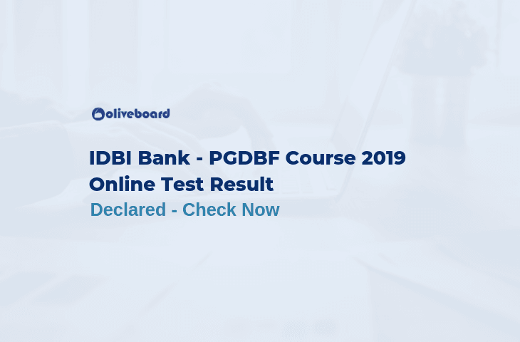 IDBI Bank Result PGDBF 2019