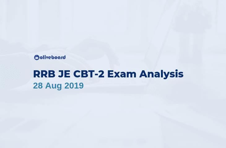 RRB JE CBT 2 Exam Analysis