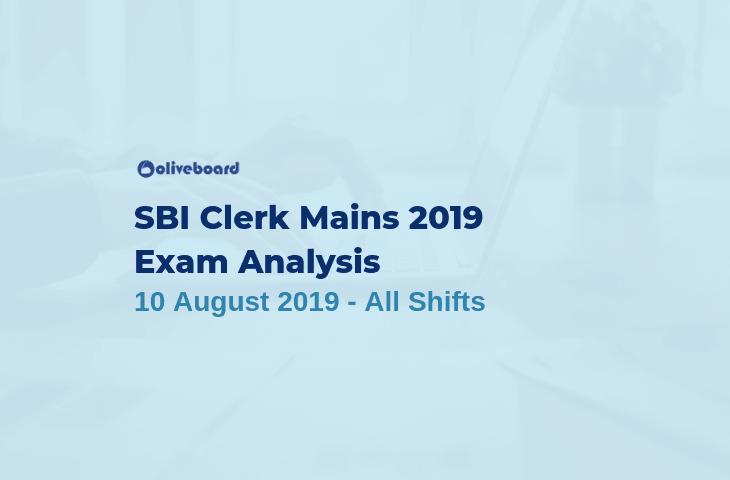 SBI Clerk Main Exam Analysis 2019