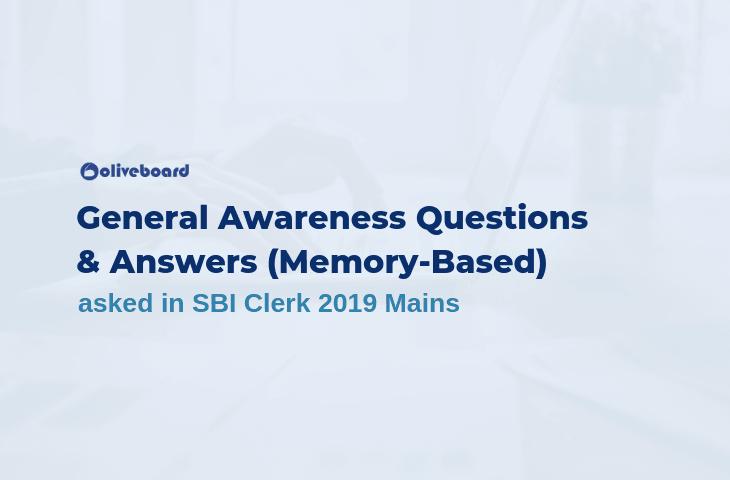 SBI Clerk Mains General Awareness Questions