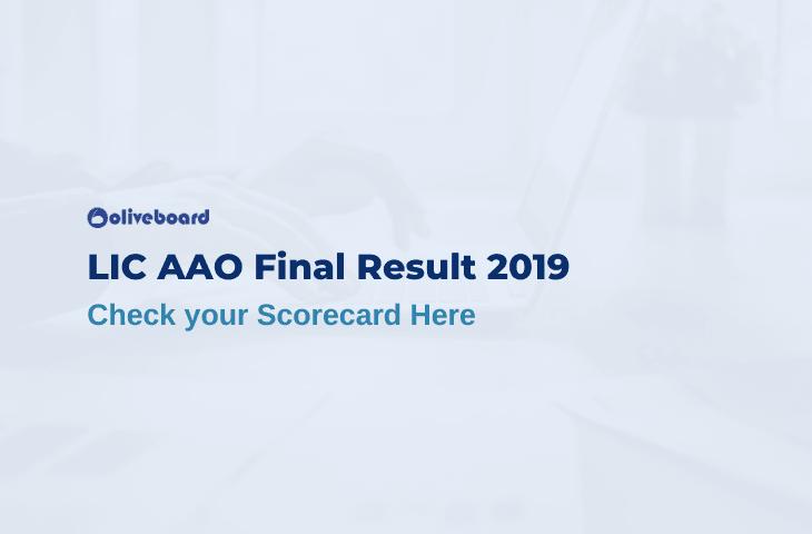 LIC AAO Final Result 2019