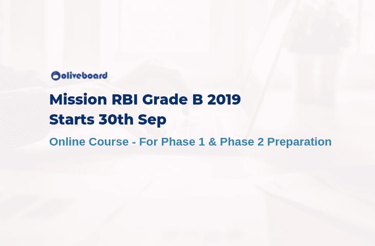 RBI Grade B Online Preparation