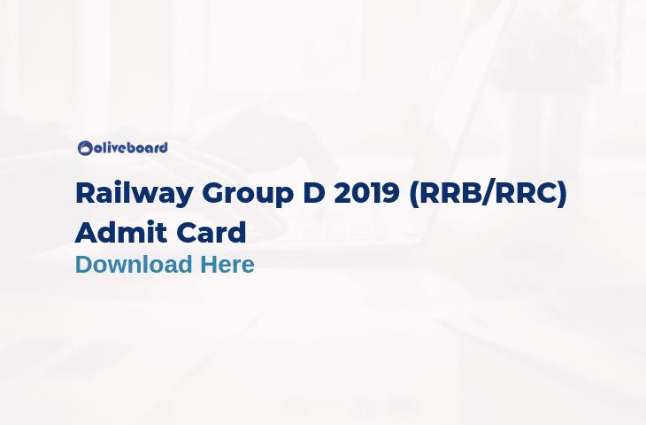 Railway Group D Admit Card 2019