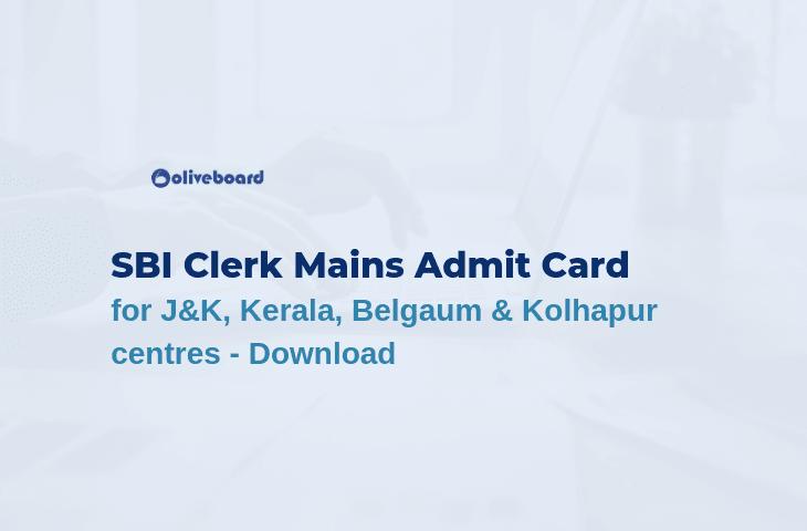 SBI Clerk Main Exam Admit Card