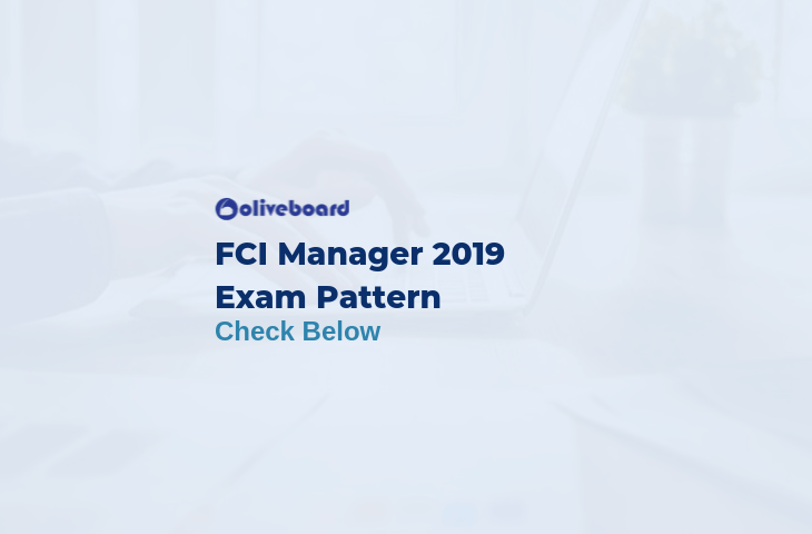 FCI Manager Exam Pattern