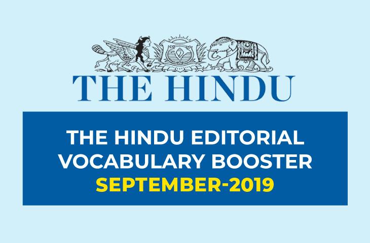 Vocabulary Booster September 2019