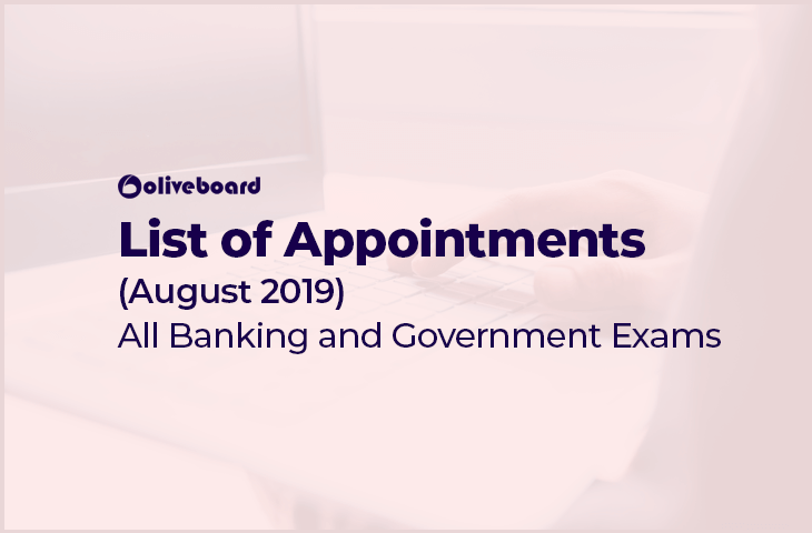new appointments august 2019
