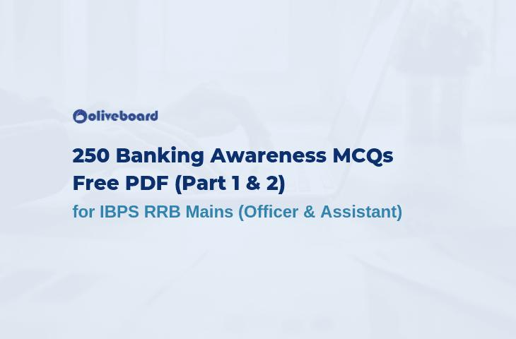 250 Banking Awareness MCQs PDF