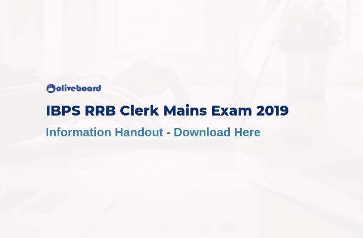 IBPS RRB Clerk Main Information Handout