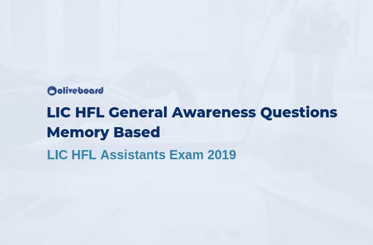 LIC HFL General Awareness Questions