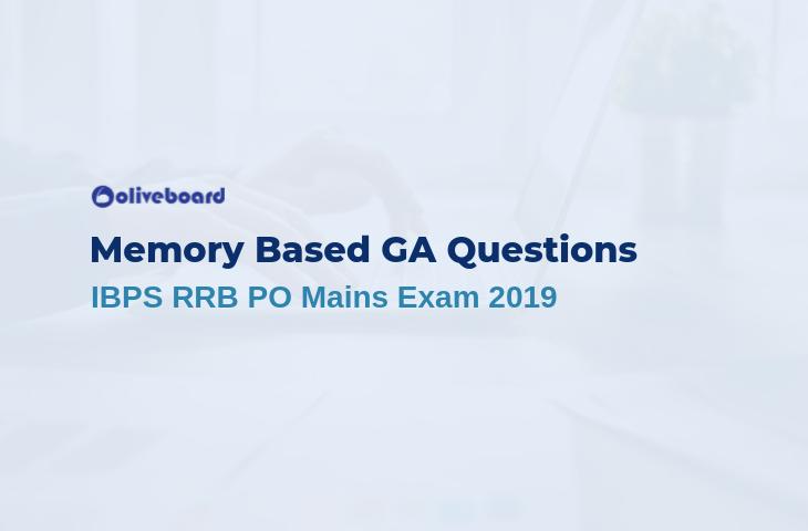 IBPS RRB PO Mains GA Questions