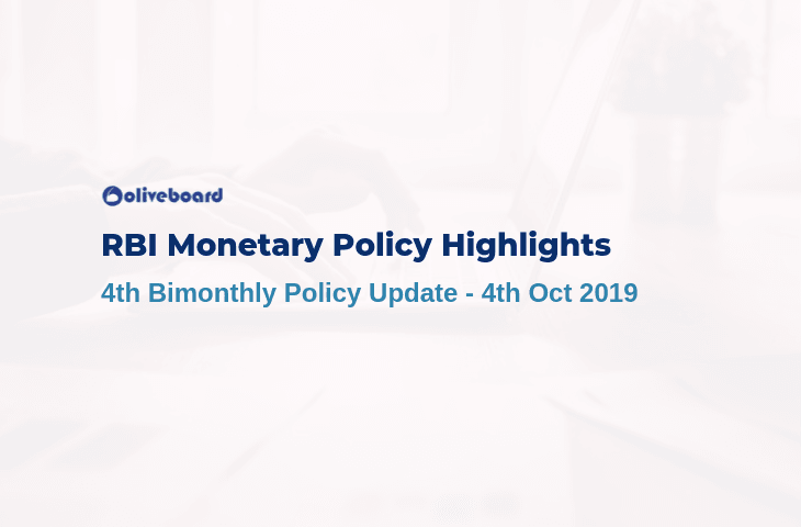 4th Bimonthly Monetary Policy Update 2019