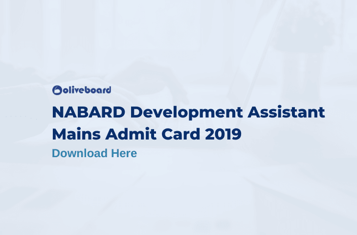 NABARD Assistant mains admit card