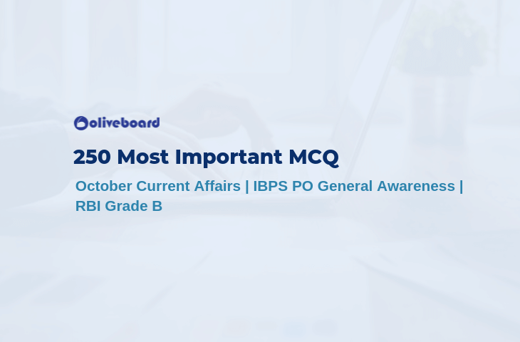 250 Most Important MCQs For October Month