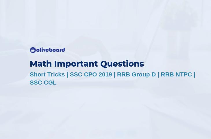 Math Important Questions