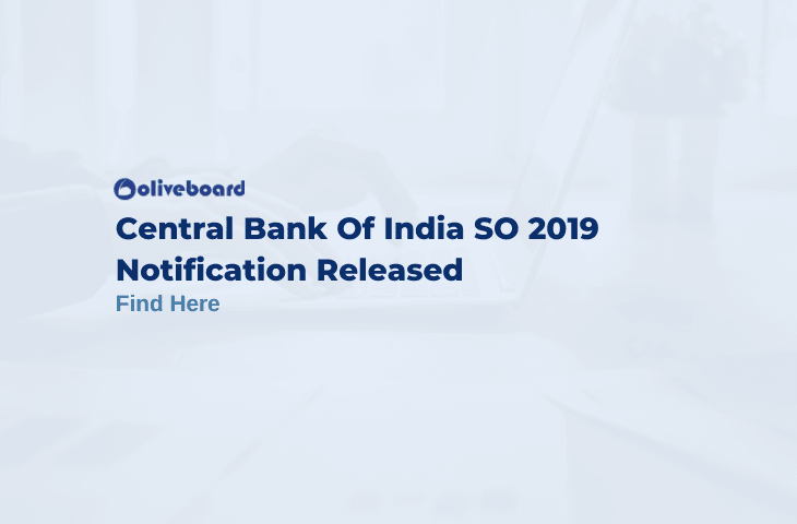 Central Bank of India SO Notification 2019