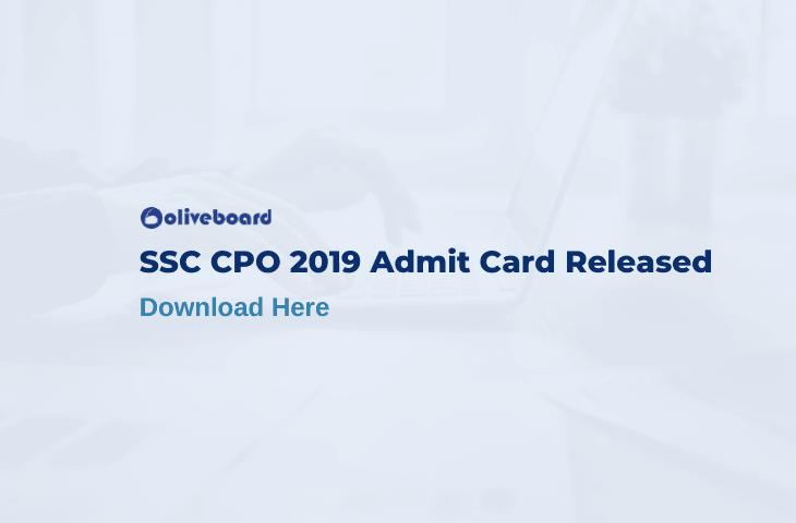 SSC CPO 2019 Admit Card